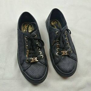 Michael Kors Logo City Black Sneaker MK Signature